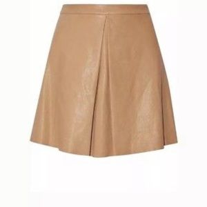 Alice + Olivia - tan leather Russo Skir5 - size 4